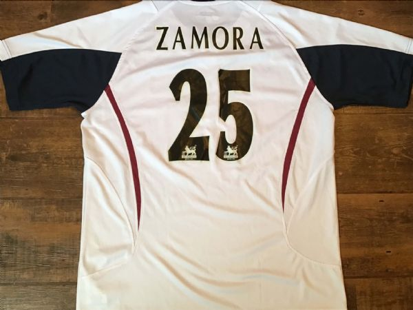 2005 2006 West Ham Zamora Away Football Shirt Adults Large